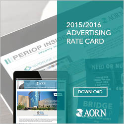 AORN Advertising Rate Card 2015/2016