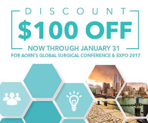 Early Bird Discount for AORN Global Surgical Conference & Expo 2017