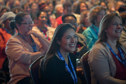 Audience member during Brad Montgomery's opening session speech