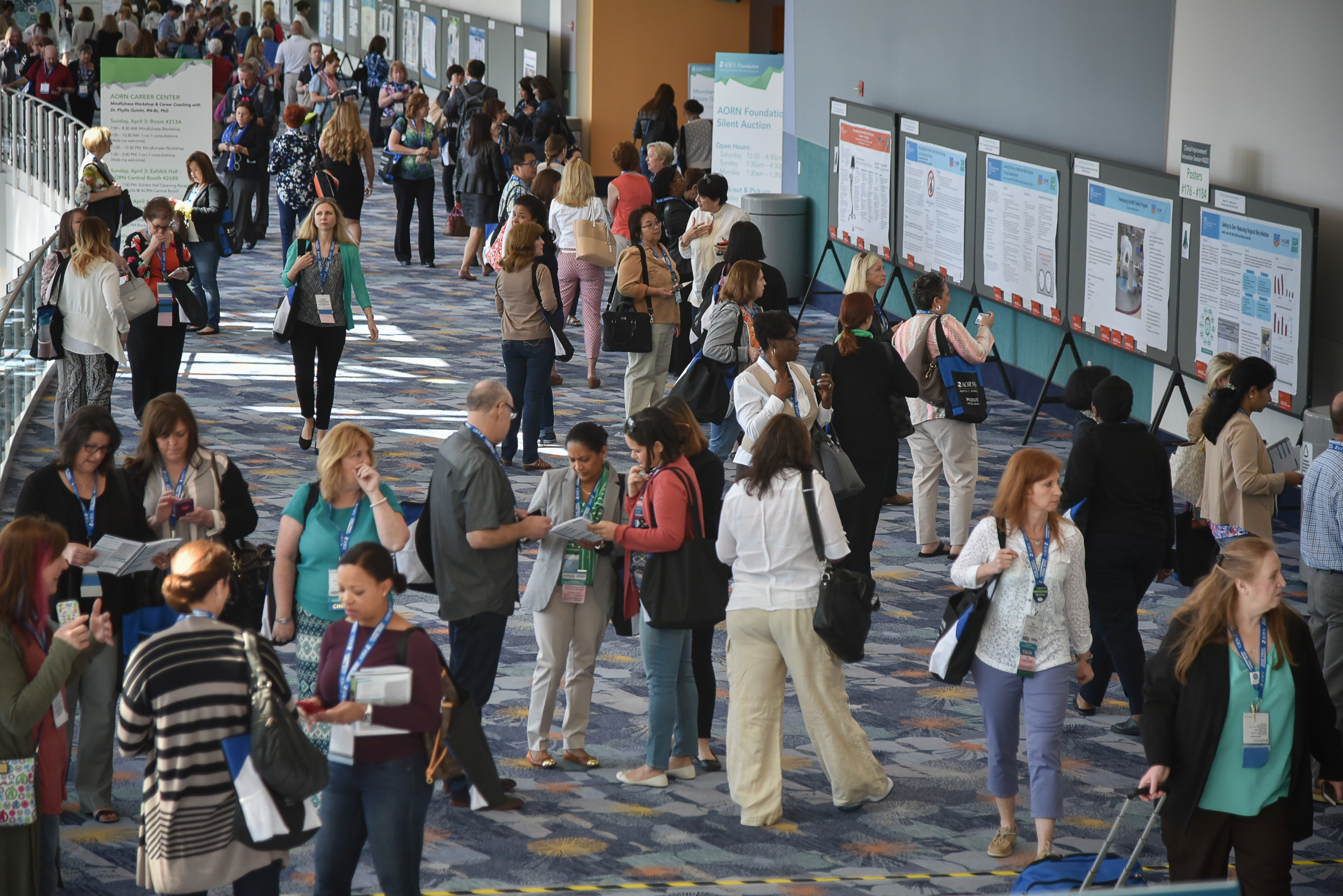 Poster display at AORN Global Surgical Conference & Expo