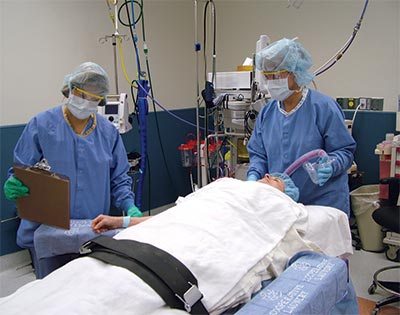 Perioperative nurses in the operating room