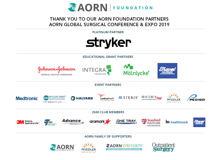 2019 AORN Foundation Grant and Event Sponsors