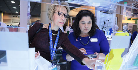 Expo attendees in exhibit hall